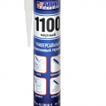 Герметик силиконовый универсальный ABRO 1100 черный 280мл 1/24 (SS-1100-BL)