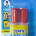 Клей эпоксидный в шприце прозрачный 6 мл ABRO ЕС-300-R (12шт)